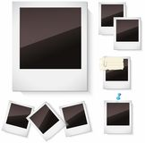 Fotoramar som isoleras över vit Arkivfoton