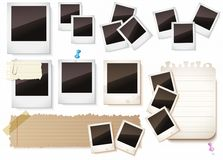 Fotoramar som isoleras över vit Royaltyfri Foto