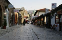 Fotoreportage von Sarajevo- - BaÅ-¡ Ä  arÅ ¡ ija stockfotografie
