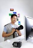 Fotoreporter lizenzfreie stockfotos