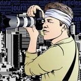 Fotoreporter ilustracja Zdjęcia Stock