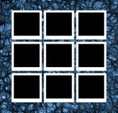Fotos auf abstraktem Blau Lizenzfreie Stockfotos