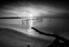 Fotos blancos y negros en las islas de Batam Bintan fotos de archivo