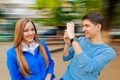 Fotos con el móvil fotos de archivo libres de regalías