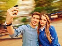 Fotos con el móvil foto de archivo libre de regalías