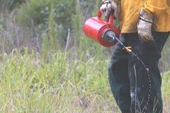 Fotos controladas da queimadura foto de stock