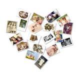 Fotos da colagem/família do estilo do coração Fotografia de Stock