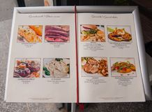 Fotos de algunos platos especiales italianos imagen de archivo