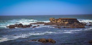Fotos de cristal del rastro de la playa en Fort Bragg CA Foto de archivo