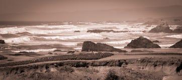 Fotos de cristal del rastro de la playa en Fort Bragg CA Fotografía de archivo