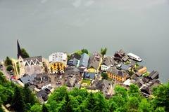 Fotos de edificios en Hallstatts imagen de archivo