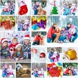Fotos de familia de la Navidad Fotografía de archivo libre de regalías