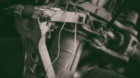 Fotos de giro industriais da máquina do motor fotos de stock