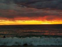 Fotos de la puesta del sol de la playa de Noarlunga del puerto Foto de archivo libre de regalías