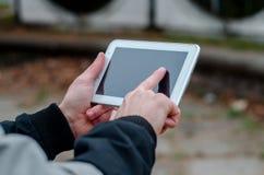 Fotos de la visión en su tableta Fotografía de archivo