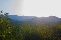 Fotos de montanhas caucasianos no alvorecer Imagens de Stock Royalty Free