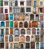 Fotos de puertas y de ventanas Fotos de archivo libres de regalías