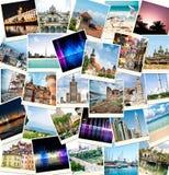 Fotos de viajes a los países diferentes Foto de archivo libre de regalías