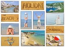 Fotos del collage de las vacaciones Fotografía de archivo libre de regalías