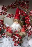 Fotos del concepto de la Navidad, nieve con el fondo del invierno fotos de archivo libres de regalías