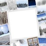 Fotos del invierno con el espacio de la copia Imagen de archivo libre de regalías