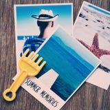 Fotos del verano y memorias del verano del texto Foto de archivo libre de regalías
