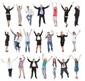 Fotos der aufgeregten Leute Lizenzfreie Stockbilder