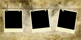 Fotos, die am Seil hängen Lizenzfreie Stockfotos