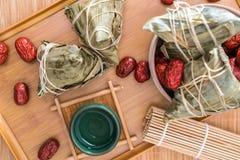 Fotos do close-up do zongzi e do jujuba em Dragon Boat Festival imagens de stock