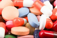 Fotos do estoque da imagem da cor do fundo dos comprimidos da medicina imagens de stock royalty free