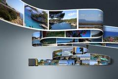 Fotos e cartão do SD ilustração stock