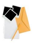 Fotos e envelope imediatos Imagens de Stock