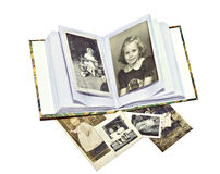 Fotos e livro velhos de família Imagens de Stock Royalty Free