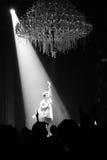 Sakis Rouvas que canta na fase em Atenas, Greece Fotografia de Stock