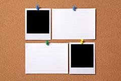 Fotos en blanco con las tarjetas de índice Imagenes de archivo
