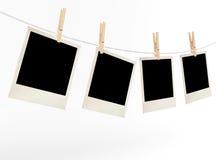 Fotos en blanco en un pesaje de la cuerda Fotos de archivo