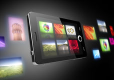 Fotos en teléfonos móviles Fotografía de archivo libre de regalías