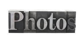 ?Fotos? en viejo tipo del metal imagen de archivo libre de regalías