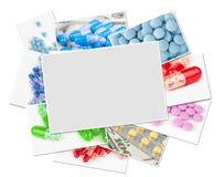 Fotos médicas con el marco en blanco fotos de archivo