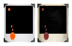 Fotos manchadas do Polaroid Imagem de Stock