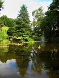 Fotos mit Landschaftsdekorativer Landschaft entwerfen, Europa-` s ältester botanischer Garten in der polnischen Stadt von Breslau Stockfoto