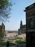 Fotos mit Landschaftshintergrundarchitektur der historischen Stadt von Dresden lizenzfreies stockfoto