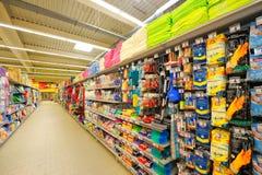 Fotos na grande inauguração de Auchan do hipermercado Fotografia de Stock Royalty Free