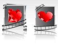 fotos Negro-blancas con los diamantes rojos Libre Illustration