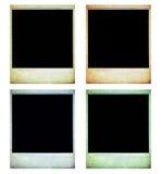 Fotos polaroid aisladas de la vendimia en blanco stock de ilustración