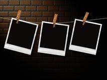 Fotos retras delante de la pared de ladrillo Fotos de archivo