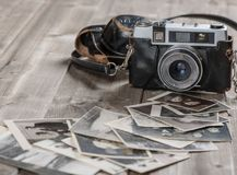 Fotos velhas da foto-câmera do filme do vintage Foto de Stock Royalty Free