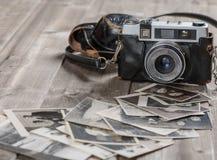 Fotos viejas de la foto-cámara de la película del vintage Foto de archivo libre de regalías