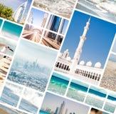 Fotos von Dubai und von Abu Dhabi Lizenzfreies Stockbild