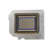 Fotosensor auf einer Metallplatte mit einem weißen Hintergrund Lizenzfreie Stockfotos